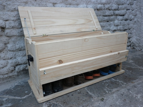Baul banco zapatero de madera maciza 3 en 1 en mercado libre - Baul zapatero ...