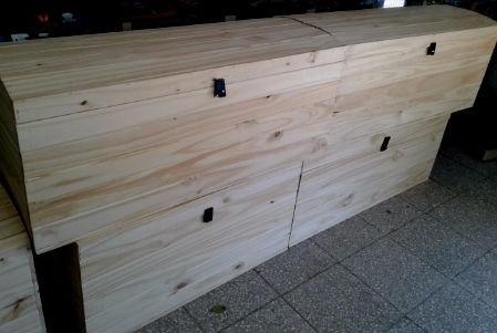 baules - baul pirata en pino - medidas 1.00 mts x 0.40 mts x
