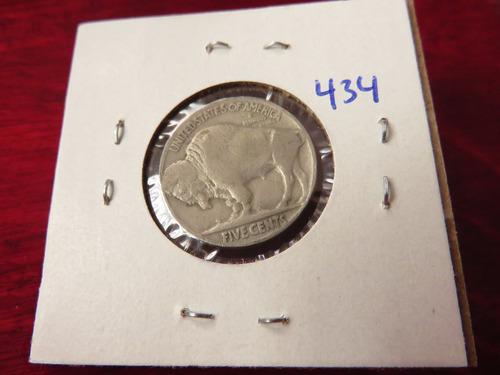bb#434 usa five cent buffalo indio americano 1934