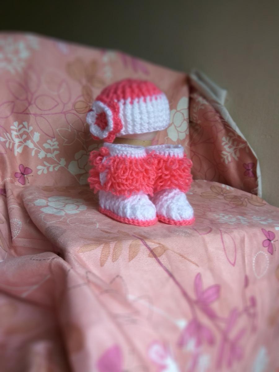 Zapatos Botitas Bebe Gorro Lana Bebe Crochet Conjunto -   390 1522093c05a
