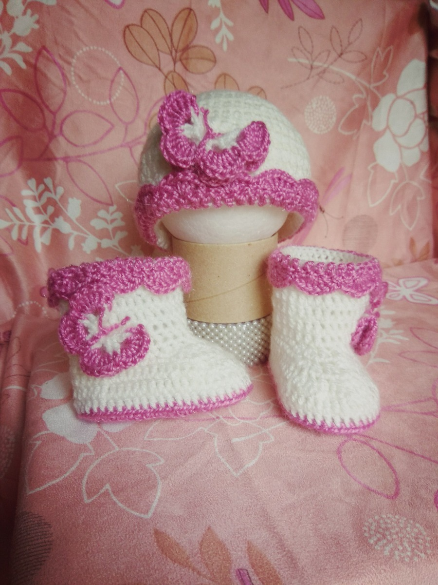 Cargando zoom... zapatos botitas bebe gorro lana bebe crochet conjunto 6c66992b61c