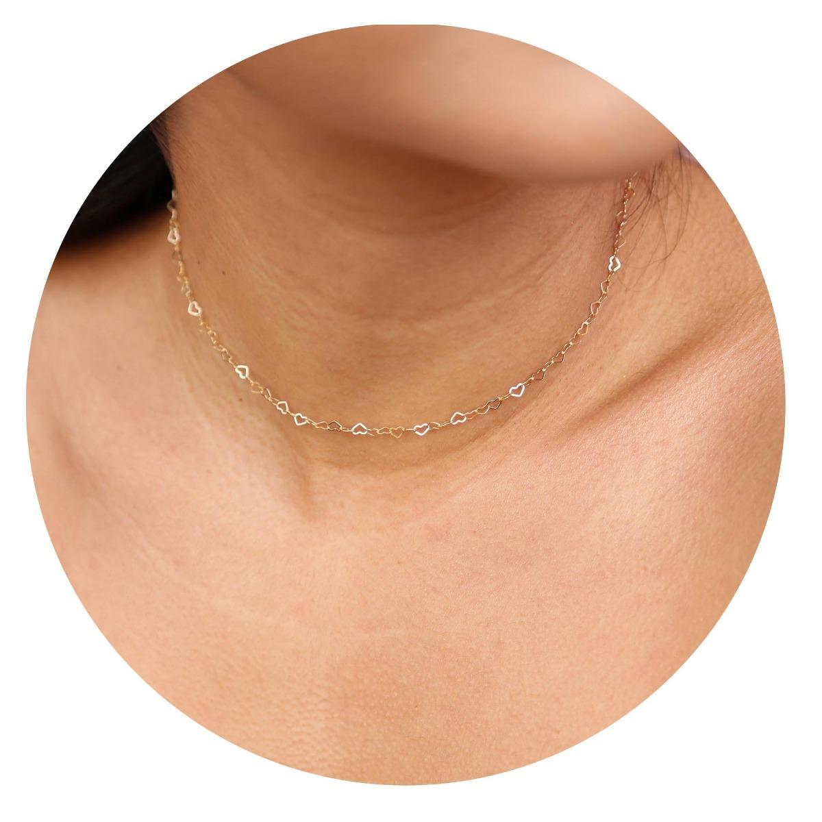 047a8192746c Befettly Collar De Gargantilla De Oro Para Mujer Hecho A. - U S 44 ...