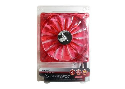 bgears b pwm 120 red 2 ball bearing red led fan with high