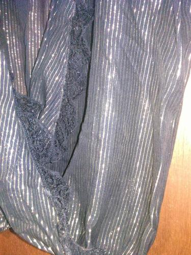 bi order blusa abierta cruzada gasa lurex hermosa!