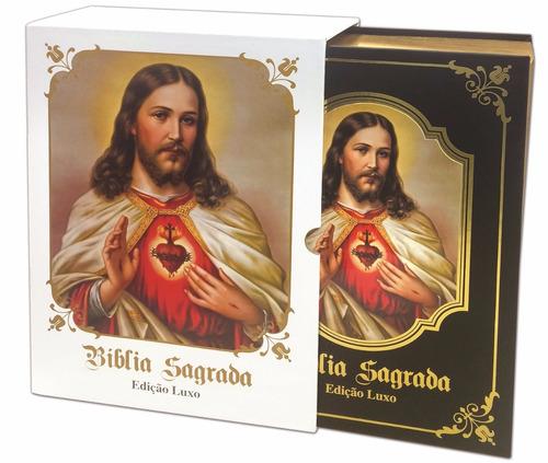 bíblia sagrada católica - luxo - preta,sagrada,biblia