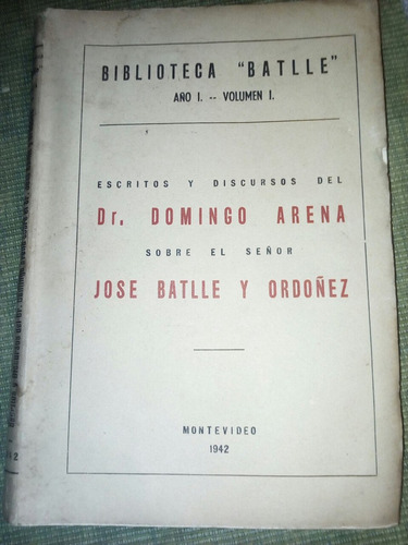 biblioteca batlle - año 1 - volumen 1 - montevideo 1942