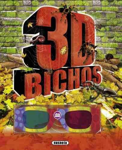 bichos 3d. con lentes 3d y pegotines nice