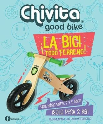 bici chivita original juguete niño y niña madera bebé