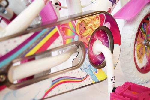 bicicleta barbie niña rodado 12 color blanco