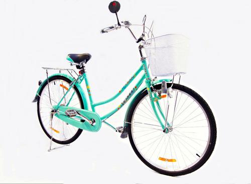 bicicleta dama pasea verado rodado 26 canasto luz candado
