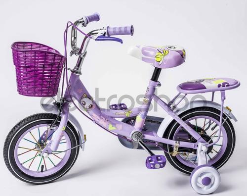 bicicleta de niña sky rodado 12 con canasto