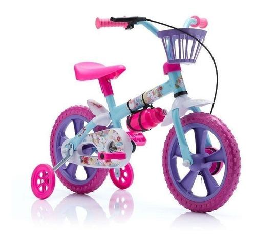bicicleta de niños rodado 12 rosada calesita con botella