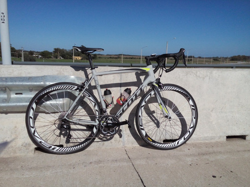 bicicleta de ruta scott cr1 (2017) full carbono-llants roval