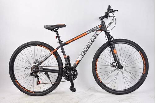 bicicleta greenbike mtb montaña rodado 29 aluminio + linga