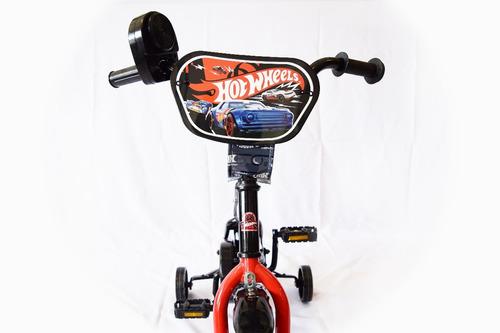bicicleta hotwheels niño rodado 12 color negro
