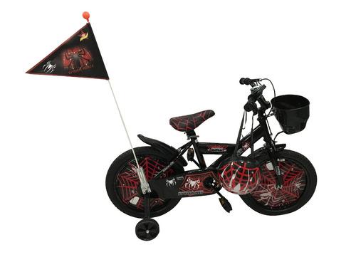 bicicleta nigabike pirata  casco rodado 16 roja-ub