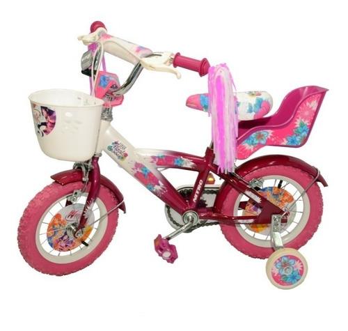 bicicleta  niña rodado 12, nitro, rosas hermanos mercedes