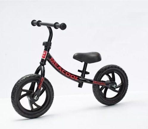bicicleta niños sin pedal r12 blanca celeste roja negra pcm