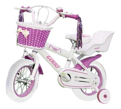 bicicleta rodado 12 con rueditas niño niña armada mvd sport