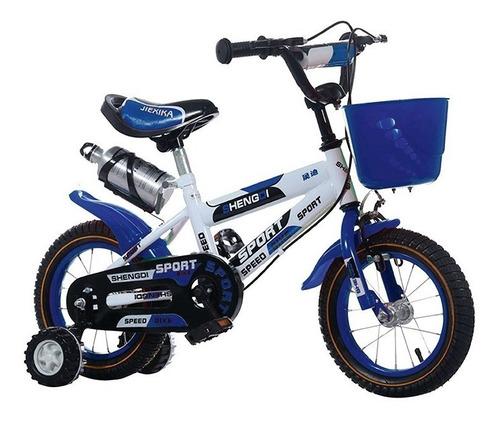 bicicleta rodado 14 con canasto y caramañola niño niña lumax