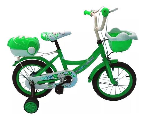 bicicleta rodado 16 con rueditas armada niño niña mvd sport
