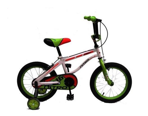 bicicleta  rodado 16,nitro crocky, rosas hermanos mercedes