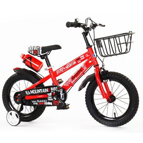 bicicleta roja - verde rodado 16 con canasto - niño niña