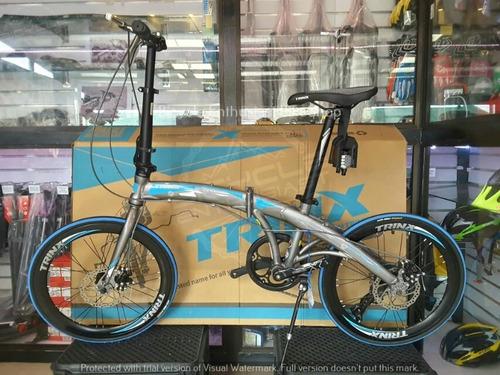 bicicleta trinx dolphin 2.0 plegable aluminio 20  albion