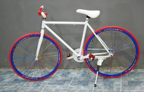 bicicleta urbana tipo fixie paseo cuadro aluminio - tvirtual