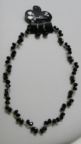 bijouterie exclusiva-conjunto de collar ycaravanas para dama
