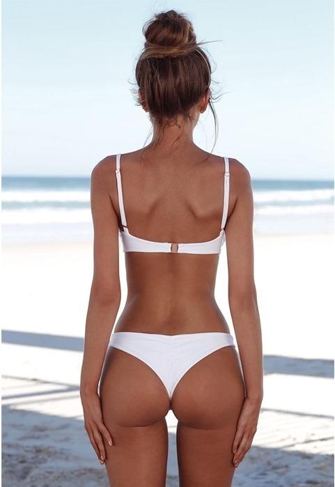 1d075889659c Bikini Colaless Dos Piezas Push Up Alto Blanco  x Encargue