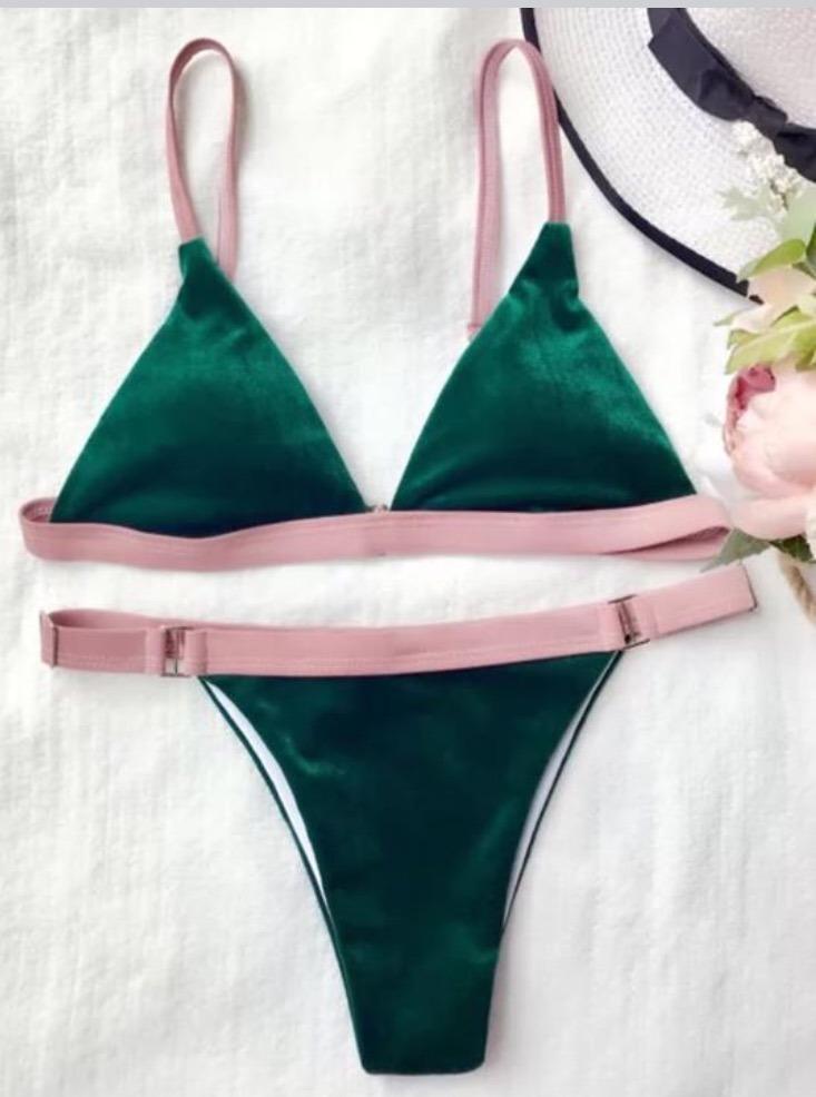 Bikini 2018 Bikini Verde Verde Terciopelo Terciopelo TlFJKc31