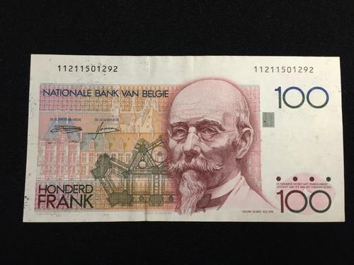 billete bélgica - 100 francos - l&m7915