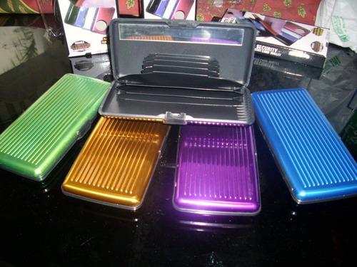 billetera aluma xl - plata verde dorada azul y púrpura = t v