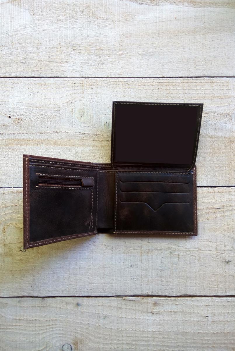 ba6cf4759 Billetera De Cuero C/cierre Color Chocolate Hombre - $ 890,00 en ...