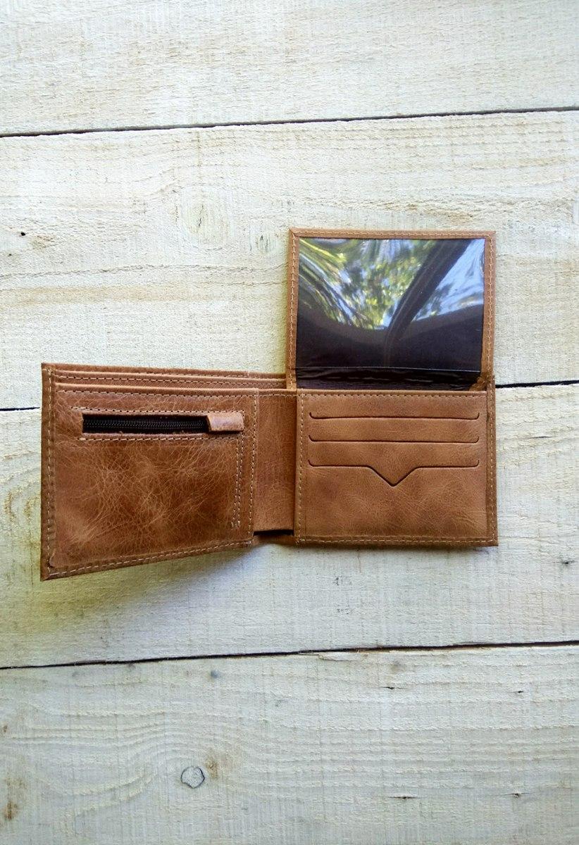 b231d3c2c Billetera De Cuero C/cierre Color Tostado Hombre - $ 990,00 en ...