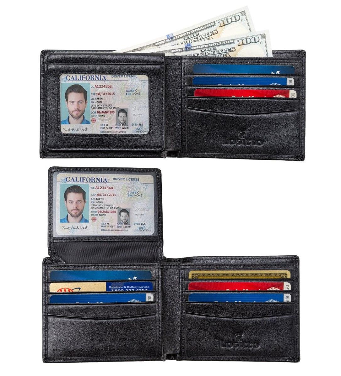 el más nuevo 06035 b0010 Billetera Rfid Para Mujer Lositto 2 Id, Bifold Wallet, Re