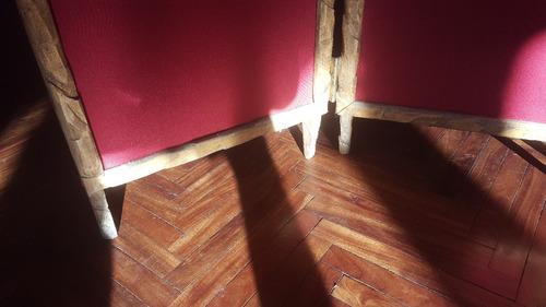 biombo madera y tela