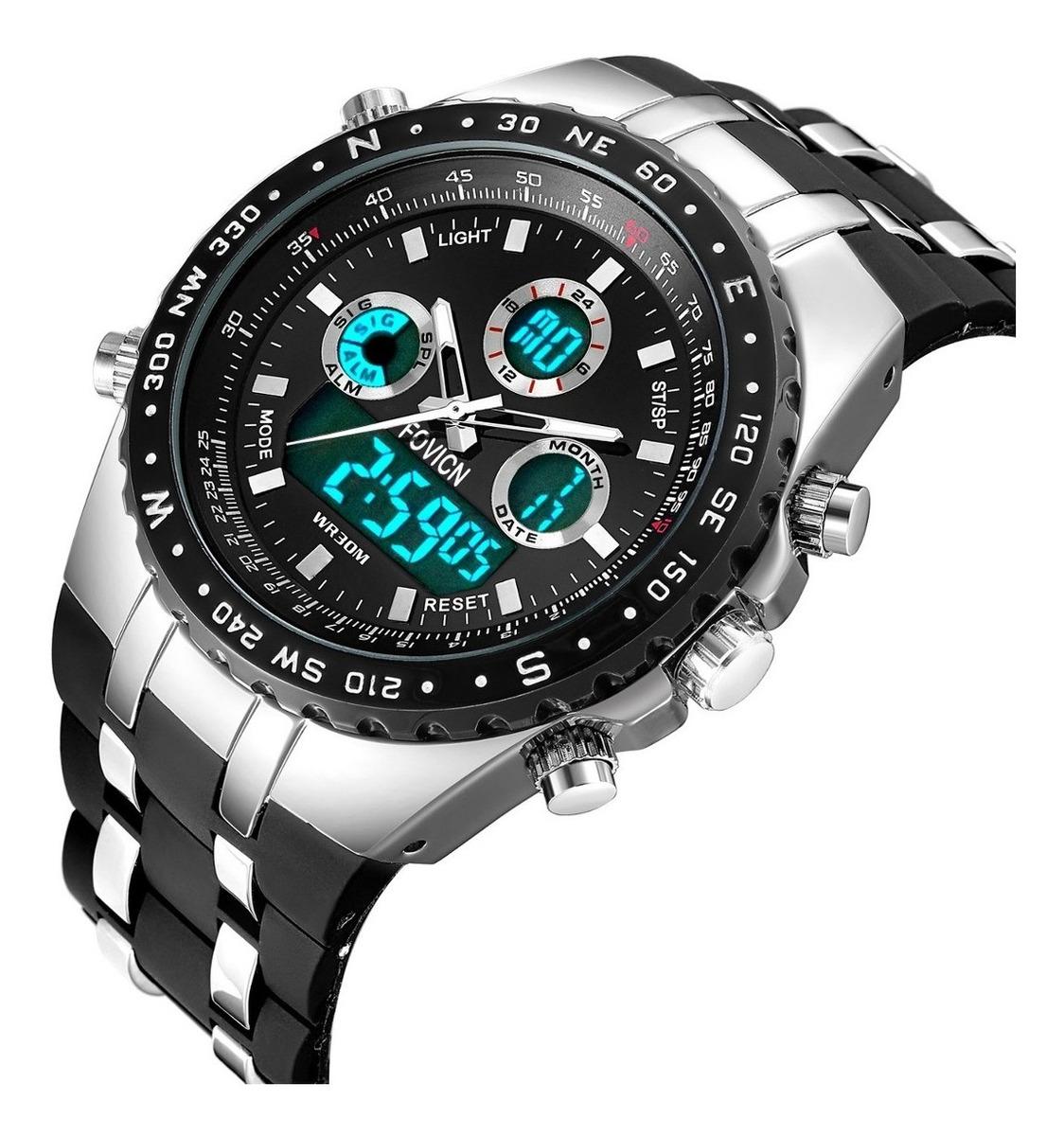 excepcional gama de estilos y colores gran descuento gama completa de especificaciones Black Mens Relojes Cara Grande Reloj Sport Watch De Men P