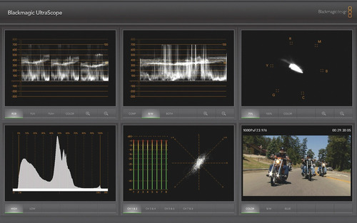 blackmagic pocket ultrascope usb 3.0 - monitor forma de onda