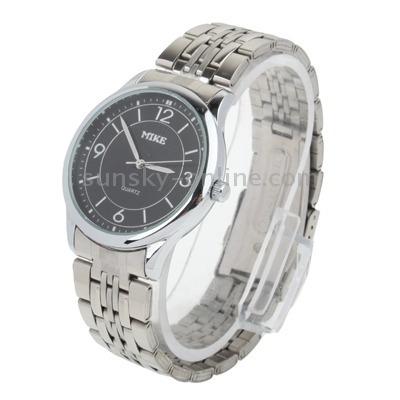 blanco dial cuarzo caballero reloj acero inoxidable 8806