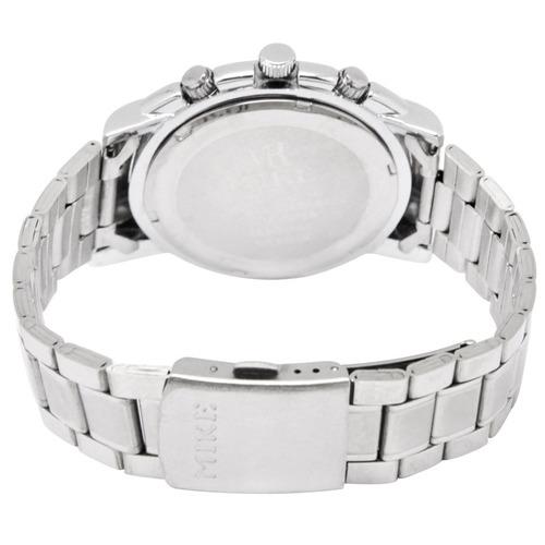 blanco dial reloj acero inoxidable caballero cuarzo