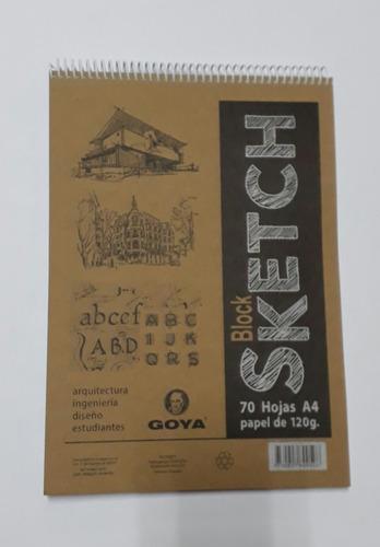 block a4 p/sckech papel 120 grs.