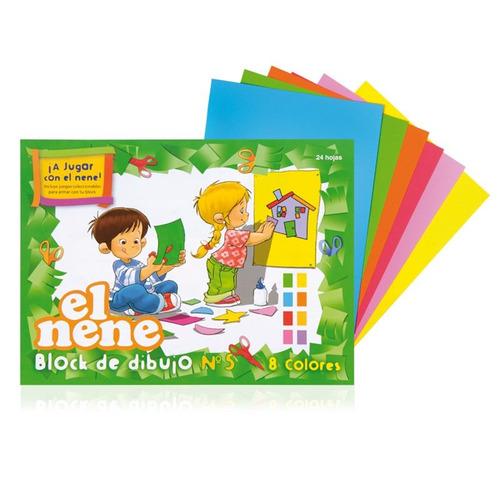 block de dibujo el nene a4 color - mosca