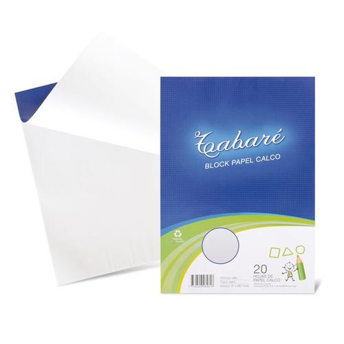 block tabaré papel calco a4 20 hojas - mosca