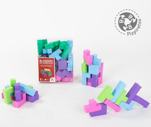 bloques construccion encastre  goma eva 36 piezas