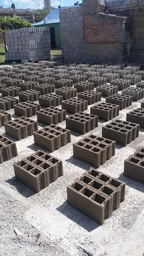 bloques vibrados prensados