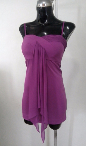 blusa bcbg talla  2 lila tirantes
