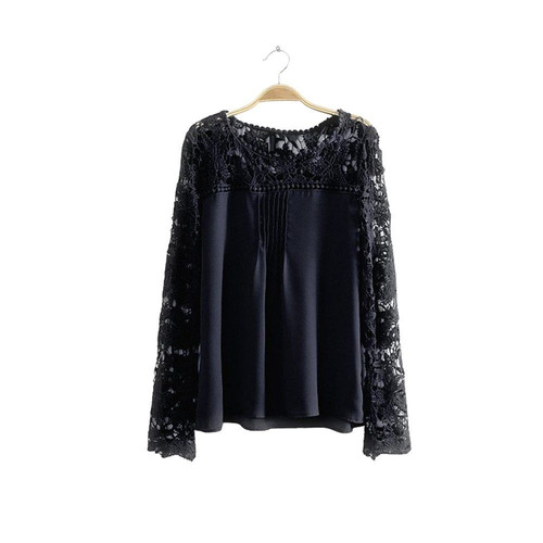 blusa camisa dama mujer crochet calada flores talle m y l