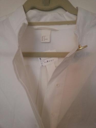 blusa de h&m nueva t m cuello mao c botones